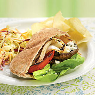 Grilled Vegetable Pitas with Goat Cheese and Pesto Mayo.