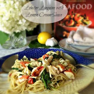 Lobster Linguine with Lemon Cream Sauce.
