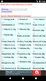 Food Nutrients Database - náhled
