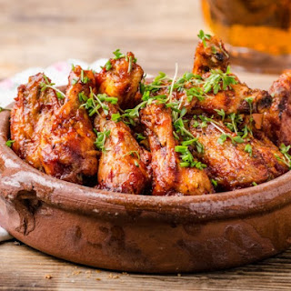 Grilled Asian-Style Chicken Wings.