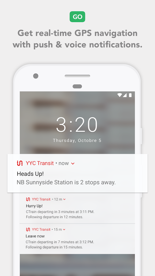 Calgary Transit- screenshot