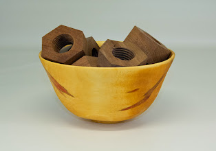 "Photo: Matt Radke 4"" x 6"" bowl of nuts (for those nuts that helped him move) [walnut, box elder]"