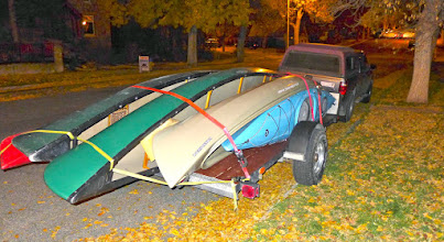 Photo: Ready to roll - loaded these up Tuesday evening and then took off Wednesday afternoon to take care of the shuttle (5 boats, 7 people).