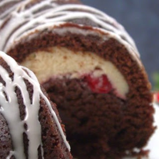 Cherry Cheesecake Chocolate Bundt Cake.
