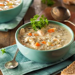 Instant Pot Turkey Wild Rice Soup.
