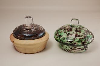 "Photo: Emily Koo 4 1/2"" x 1 1/2"" bowl with lids [zelkova]"