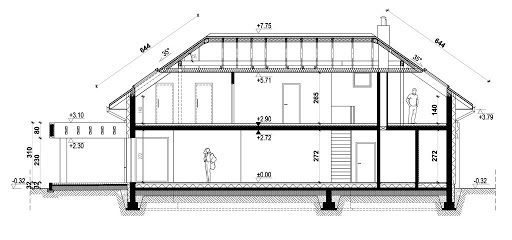 New House 7 - Przekrój - wariant