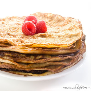 4-Ingredient Mascarpone Crêpes (Low Carb, Gluten-free)