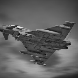 Typhoon Circuit Bashing by Andrew Lewis - Transportation Airplanes ( clouds, reheat, canon, 5d mk3, departure, sigme 150-600, typhoon, blur, military, lincolnshire, burner, coningsby, plane, aircraft, jelly, raf, fighter, jet )