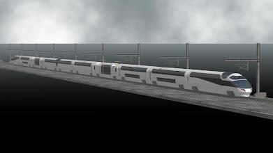 Photo: 架空ロマンスカーLXE設計開始