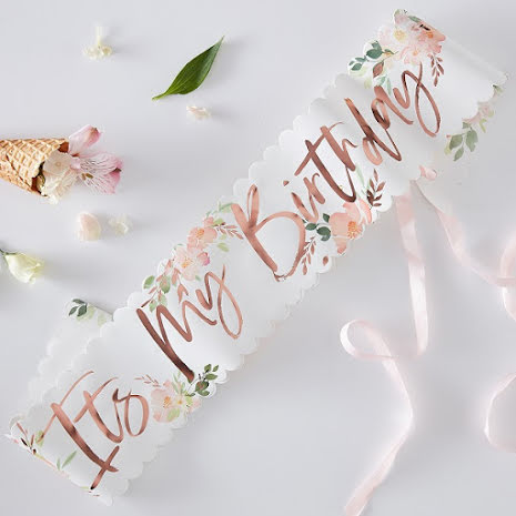 Ordensband It´s my birthday - Ditsy Floral