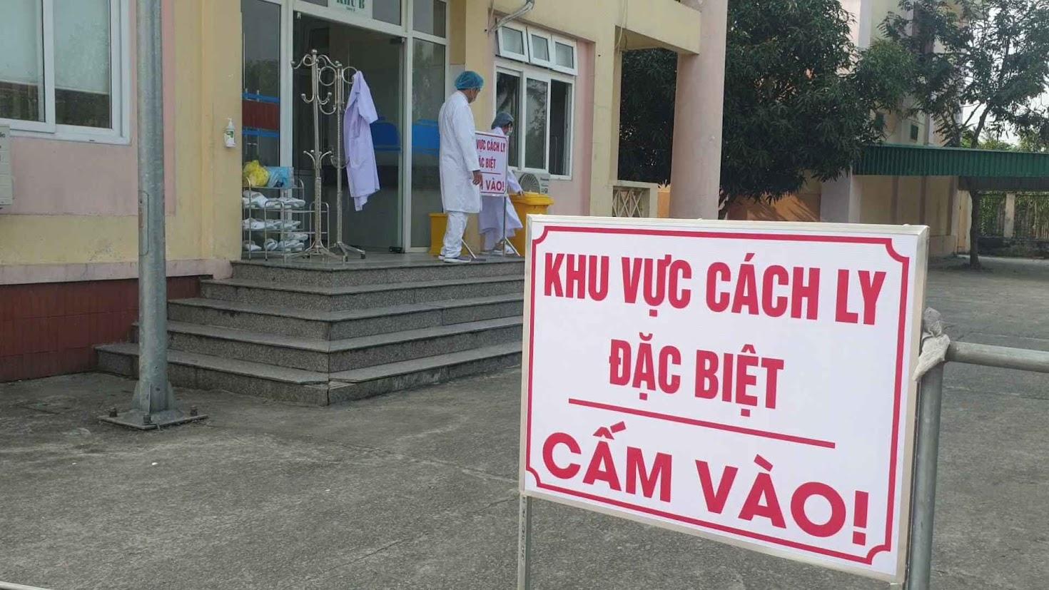 Khu vực cách ly bệnh nhân nghi nhiễm Corona tại Nghệ An