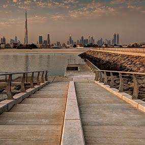 Burj by RJ Ramoneda - City,  Street & Park  Vistas ( tower, sky, sea, view, city )
