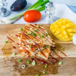 Easy Cheesy Chicken Quesadilla.
