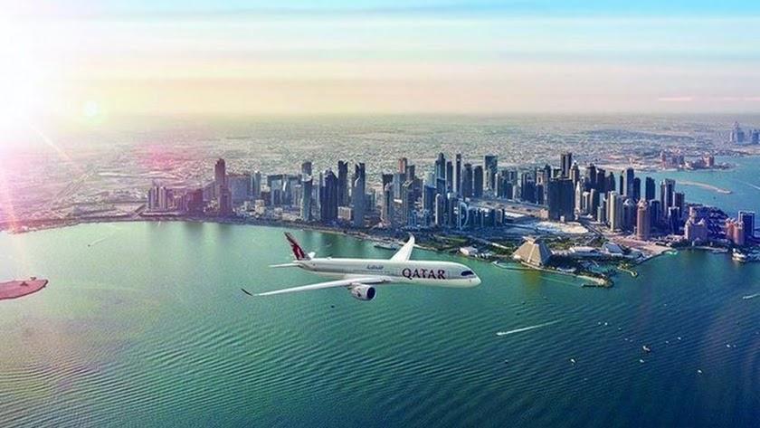 Imagen de archivo de un avión de Qatar Airways.