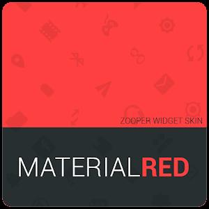 MaterialRed Zooper Widget Skin  |  App de Personalización