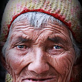 Age by Soumen  Basu Mallick - People Portraits of Women ( senior citizen, face, people, pwc faces )