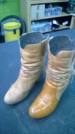 Opknapbeurt voor laarzen met vlekken