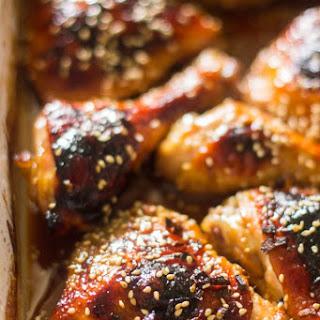 Easy Baked Honey Garlic Chicken.