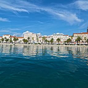 Split Town by Jaksa Kuzmicic - Landscapes Waterscapes ( port, blue, croatia, split sea )