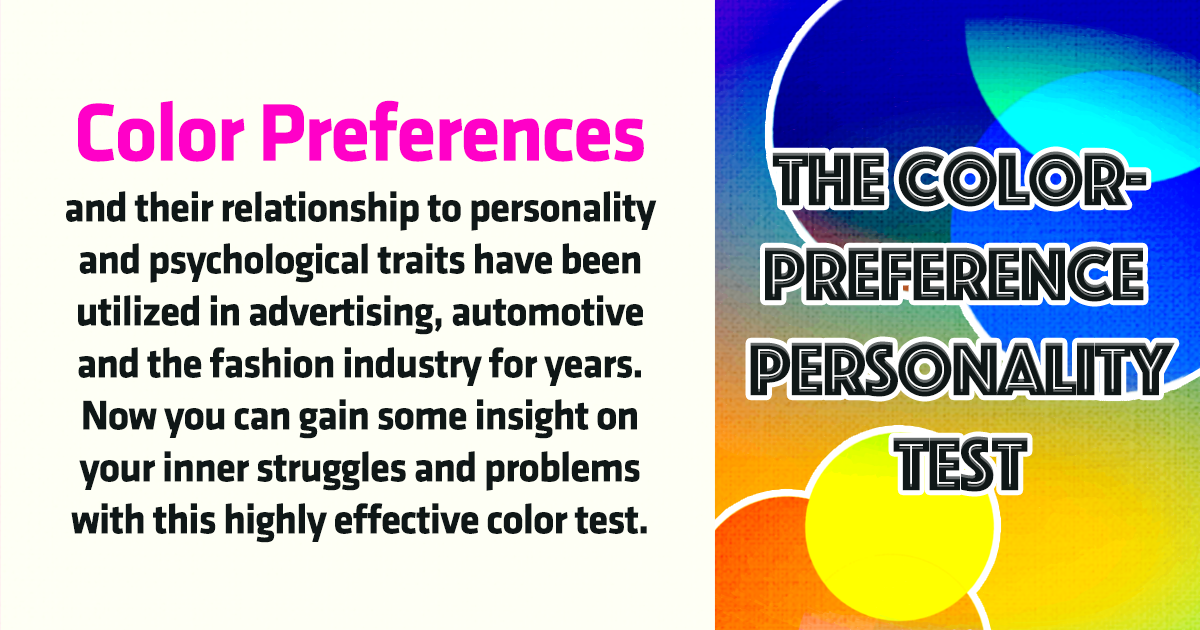 The Color Preference Personality Test Playbrain