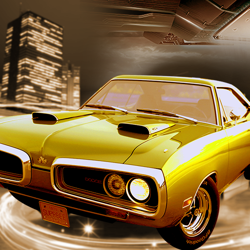 Old Muscle Car City Driving