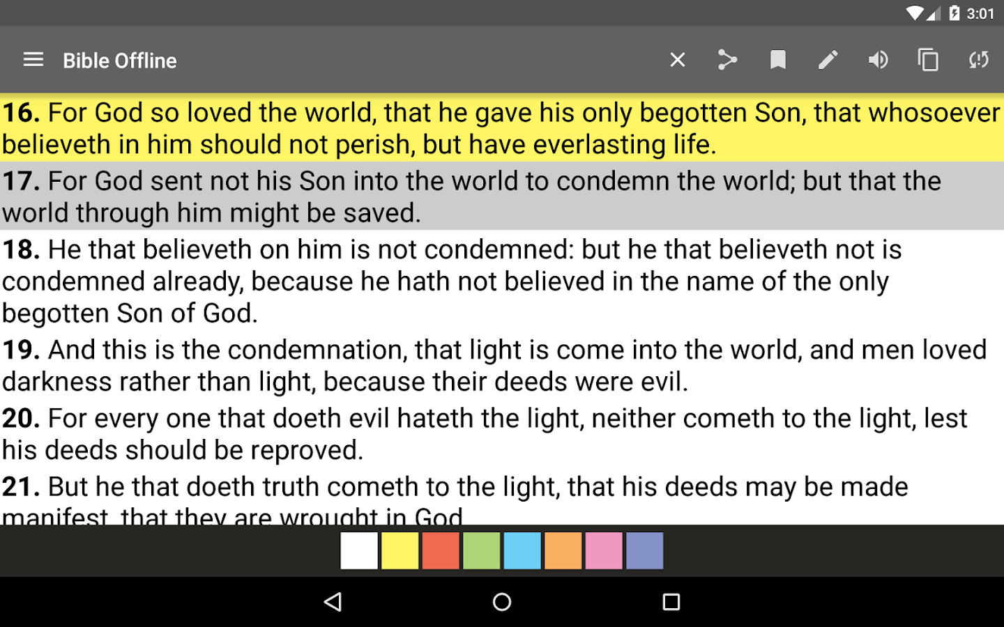 Screenshots of Bible Offline - Holy Word for iPhone