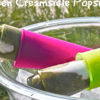 Green Creamsicle Popsicle.