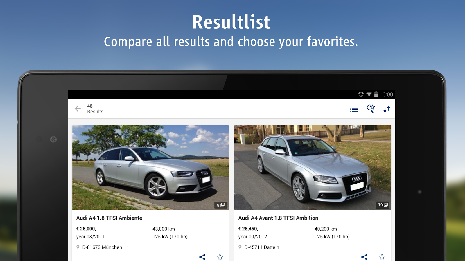 AutoScout24 - used car finder - screenshot