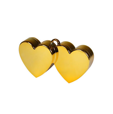 Ballongtyngd - Dubbelhjärta guld
