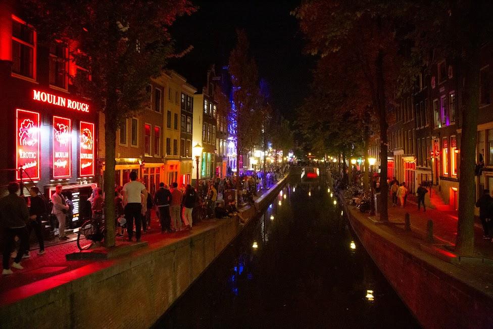 Amsterdam, Red Light District, Dzielnica Czerwonych Latarni