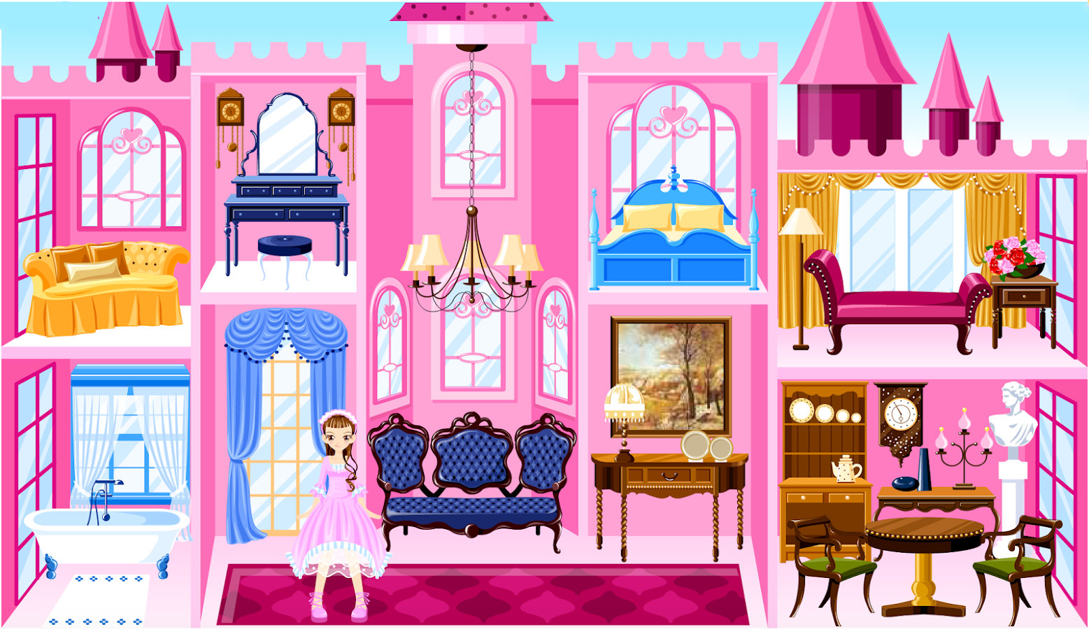 princess castle decoration - android apps on google play