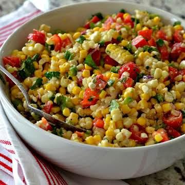 Corn Salad with Easy Lime Vinaigrette