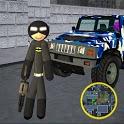 Dark Bat Stickman Rope Hero Gangstar Mafia Crime icon