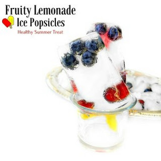 Fruity Lemonade Ice Popsicles - Healthy Summer Treat