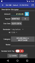 MoBill Budget and Reminder Screenshot 7