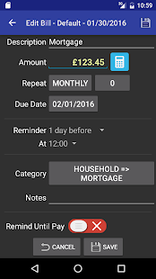 MoBill Budget and Reminder Screenshot 7