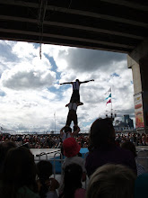 Photo: A performance at the Hoopla festival at Darling harbour