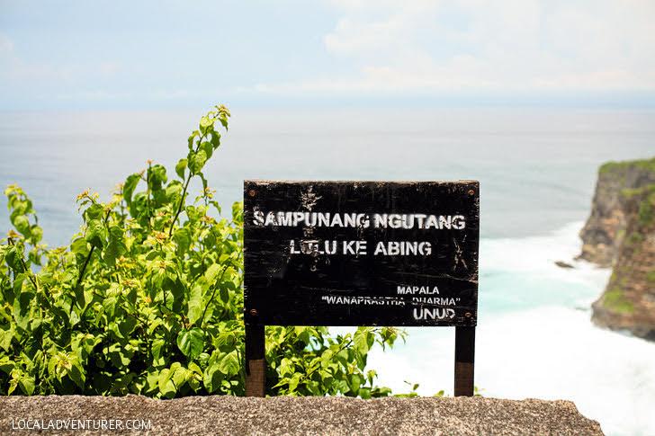 Pura Luhur Uluwatu Bali Monkey Temple.