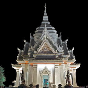 City Shrine by Mark Pope - Buildings & Architecture Places of Worship ( temple, shrine, peace, white, night, quiet, worship )