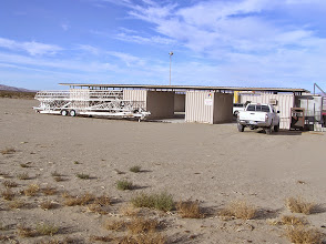 Photo: Storage containers and the rocket rail.