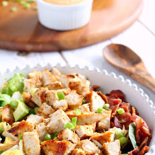 Paleo Chicken Cobb Salad with Buffalo Ranch {Whole30}.