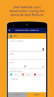Track EHS Observations and Compliance Calendar App - náhled