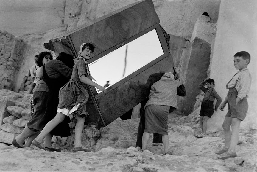 Imagen perteneciente a la serie \'La Chanca\' en blanco y negro..