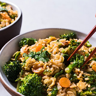Fried Rice with Pickled Carrots and Mustard Greens