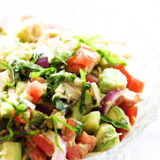 Chicken Avocado Chopped Salad.
