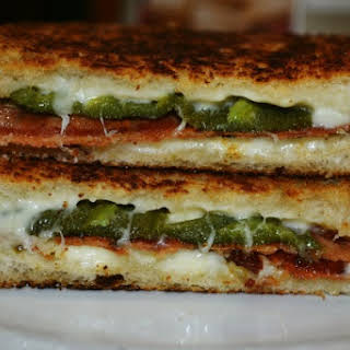 Bacon & Jalapeno Popper Grilled Cheese Sandwiches.
