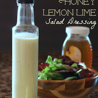 Creamy Greek Yogurt Honey Lemon Lime Salad Dressing.