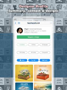 TasmeemApp | Design requests online - náhled