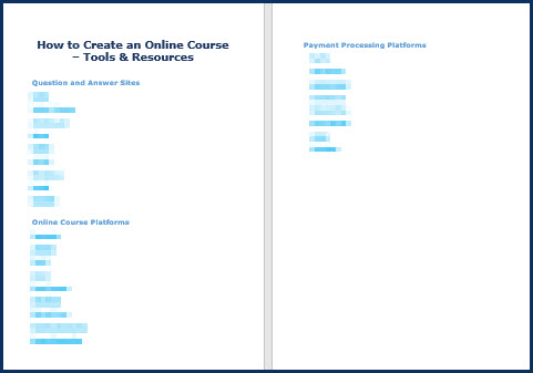 Create an Online Course - Tools